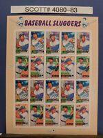 Scott # 4080-83-Baseball Sluggers-Sheet of (20) 39 Cent Stamps