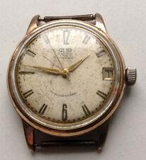 GUB GLASHÜTTE S/A Cal. 69.1 - rare vintage Herren Uhren - 50er Jahre - Vergoldet