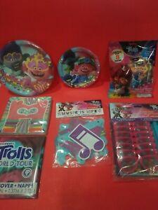 DreamWorks Trolls World Tour Birthday Party Supplies *7pc*Banner*Plates*Favors