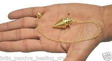 Jet New Twisted Coil Gold Plated Metal Pendulum Top Healing Dowsing A++