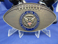 """MILITARY AIDES TO VICE PRESIDENT BIDEN FOOTBALL BRASS CHALLENGE COIN 4.25""""X2.25"""""""