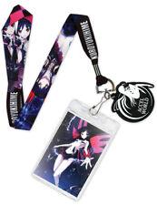 **Legit** Accel World Anime Black King Kuroyukihime Badge Holder Lanyard #37539