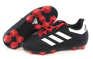 Infant Toddler Boys Girls Adidas G26367 Goletto VI FG Black Soccer Cleats Shoes