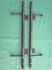 2 fiches à lacets ferrure meuble porte bahut armoire fer Ht 53,5 Dia. 2 cm copie