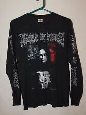 Vtg Cradle Of Filth Long Sleeve Cotton T-Shirt sz S Metal Band Shirt