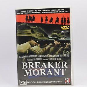 Breaker Morant Australian Classic DVD R4 Movie Good Condition Free Tracked Post
