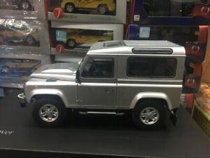 Kyosho Models! Land Rover Defender 90 Heritage Silver 4 Door Open 1:18 Scale