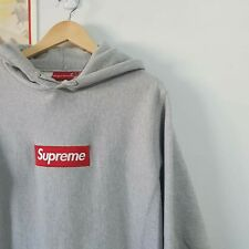 SUPREME Authenticated L Box Logo Bogo Heathered Grey Hoodie Sweatshirt Genuine