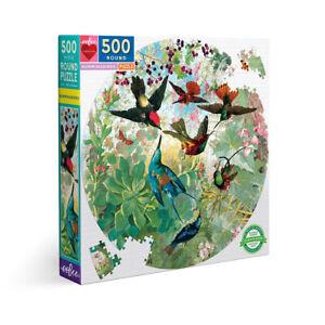 eeBoo Hummingbirds 500 Piece Round Jigsaw Puzzle