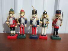 """5 Wooden Nutcracker Figures 5"""""""