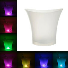 LED Ice Cube Container Bottle Cooler Ice Bucket Champagne Cooler Wine Cooler Pop