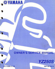 2004 Yamaha Yz250S Motocross Motorcycle Owners Service Manual -Yz 250 S-Yz250