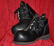 ZYKO Professional Real Leather Clown Shoes Chaplin model  Black//yellow ZH027