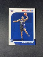2020 Zion Williamson Rookie Card Panini NBA Hoops #258 RC
