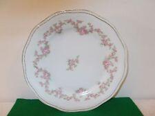 "Vintage Bavaria 9"" Plate with Pretty Pink Rose Design"