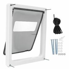"""Extra-Large Home Pet Door Gate 17""""x14"""" Flap with Sliding Shutter for Dog Fat Cat"""