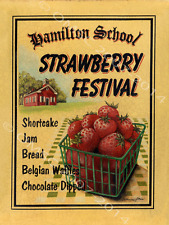 Strawberry Festival Metal Sign, Hamilton School House Kitchen, Restaurant