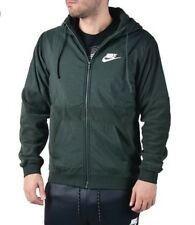 Nike Sportswear Full Zip Hoodie Men Jacket Size MED 863781-332 Green Winterized