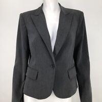 Body By Victoria Womens 10 Blazer Jacket Gray Career Office Victorias Secret