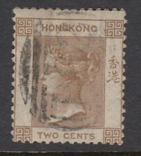 HONG KONG : 1863 CC Watermark 2c pale brown SG 8a used