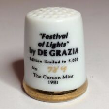 Vintage Limited Edition Ceramic Thimble Festival of Light 1981 De Grazia #789/5k