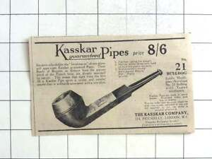 1923 The Kasscar Company, 174 Piccadilly, Guaranteed Pipes