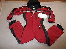 OBERMEYER SKI SNOW SUIT I GROW INSULATED HOOD JACKET PANTS BRICK RED BOY'S 6