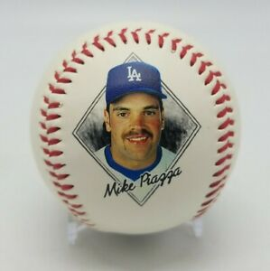 1995 MIKE PIAZZA Baseball Photo Fotoball Ball with Stats Los Angeles Dodgers MLB