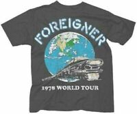 FOREIGNER T-Shirt 1978 World Tour Tee New Authentic S-2XL