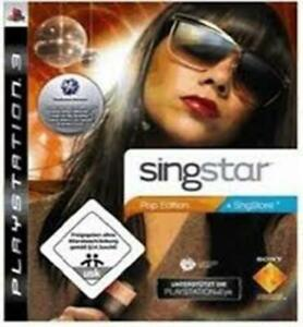 Singstar Pop Edition PS3 VERY GOOD FREE POST INCLUDES MANUAL!