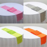 "NEW! 12"" x 108"" Satin Table Runner Wedding Venue Decor Wedding Party  Multicolor"