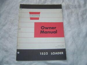White Cockshutt Oliver 1532 loader operator's manual