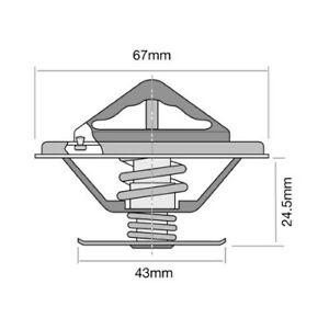 Tridon Thermostat (High Flow) TT248-192 fits Mercedes-Benz 230 230 (W123), 23...