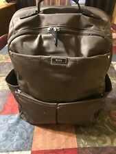 Tumi  brown nylon back pack Preowned