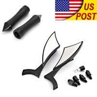 1'' Handle Bar Hand Grips Mirrors For Suzuki Intruder Volusia VS VL 700 800 1400