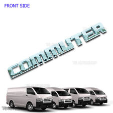 Chrome Rear Back Tailgate Logo Emblem Decal For Toyota Hiace Commuter 2005-2016