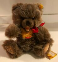 Rare Steiff Zotty Fully Jointed Brown Teddy Bear Signed on Foot