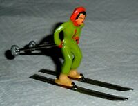 "VINTAGE LEAD BARCLAY ""GIRL ON SKIS IN GREEN"" B191 Near Mint Free Shipping Lot E"