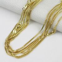"""Fashion 10pcs 18K Gold Plated 1.4mm Box Chain Necklace 16""""-24"""" Wholesale lots"""