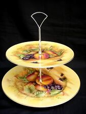 Aynsley ORCHARD GOLD 2 tiered serving tray