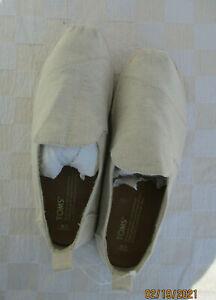 TOMS Slip-on Ivory Canvas Shoes Men's Size 8