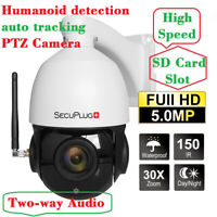 HD 5MP Humanoid Detection Auto Tracking WIFI IP High Speed Dome Camera 30X Zoom