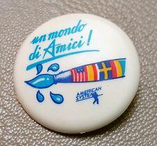 """""""AMERICAN SYSTEM"""" SPILLA (TIPO 15) VINTAGE ANNI 80 IN PLASTICA 3.5 cm (PANINARO)"""