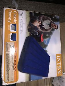 Intex Twin Size Classic Downy Inflatable Air Bed Mattress 68757WA NEW IN BOX
