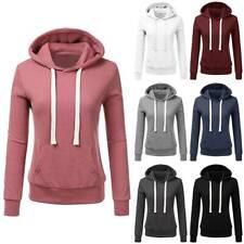 Plus Size Womens Hooded Sweatshirt Winter Ladies Casual Hoodies Jumper Pullover