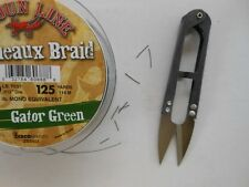 FLY TYING SCISSORS --ULTRA SHARP - CLEAN SQUARE CUTS ON BRAID LINE - WITH CASE