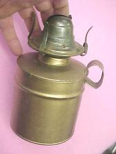 F1 Vintage Brass White Flame Light Co. Company USA wick lantern needs globe