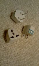 EU UNIVERSAL TRAVEL ADAPTER PLUG / CONVERTER: UK, US, ASIA to EU -LOT OF 3 PLUGS