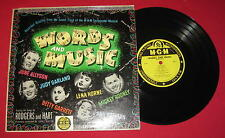 """WORDS AND MUSIC""  RARE 10"" 1950 OST MGM E-505 LP LQQQK!!"