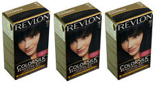 3 X  Revlon ColorSilk Beautiful Hair Color  10 Black